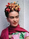 Frida in Pink and Green Blouse, Coyoacán, 1938