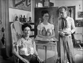 Frida with Nick in her Studio