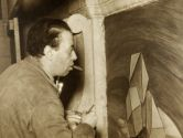 "Diego Rivera at work on the ""Detroit Industry"" murals. (Photo: Detroit Institute of Arts)"